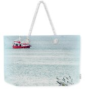 A Fine Day For A Red Boat Weekender Tote Bag