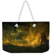 A Fire In The City Weekender Tote Bag