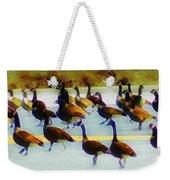 A Flock Of Geese Weekender Tote Bag