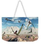 A Flock Of Thalassodromeus Pterosaurs Weekender Tote Bag