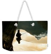 A Fly Fisherman Standing In A River Weekender Tote Bag