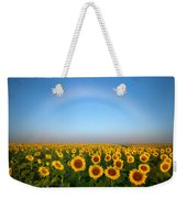 A Fog Bow Over The Colorado Sunflower Fields Weekender Tote Bag