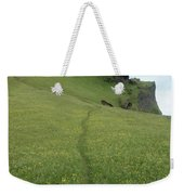 A Footpath Above The Cliff Weekender Tote Bag