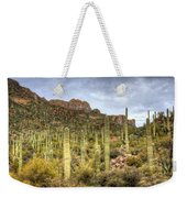A Forest Of Saguaros  Weekender Tote Bag