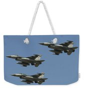 A Formation Of Turkish Air Force F-16cd Weekender Tote Bag