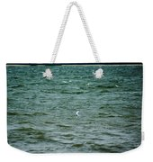 A Forster Tern Fighting The Winds Out At Sea Weekender Tote Bag