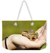 A Frog In The Hand Weekender Tote Bag