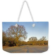 A Frosty Sunday Morning Weekender Tote Bag