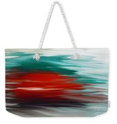 A Frozen Sunset Abstract Weekender Tote Bag