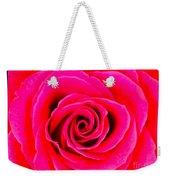 A Fuschia Pink Rose Weekender Tote Bag