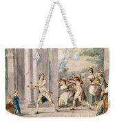 A Game Of Blind Mans Buff, C.late C18th Weekender Tote Bag