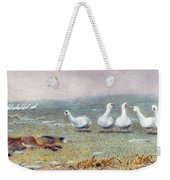 A Game Of Fox And Geese, 1868 Weekender Tote Bag