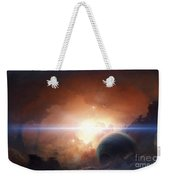 A Gas Giant Partly Hidden In A Nebula Weekender Tote Bag