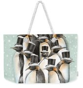 A Gathering In The Snow Weekender Tote Bag