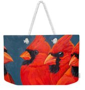 A Gathering Of Cardinals Weekender Tote Bag