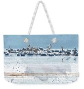 A Gathering Of Pelicans Weekender Tote Bag