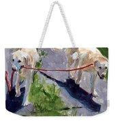 A Gentle Lead Weekender Tote Bag by Molly Poole