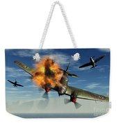 A German Heinkel Bomber Plane Crashing Weekender Tote Bag