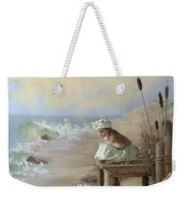 A Girl Posed By The Seashore Victoria Weekender Tote Bag
