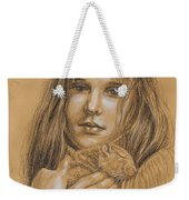 A Girl With The Pet Weekender Tote Bag