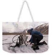 A Glaciologist Tinkers With A Steam Weekender Tote Bag