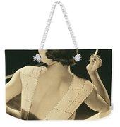 A Glamourous Woman Smoking Weekender Tote Bag