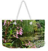 A Glimpse Of Monet's Pond At Giverny Weekender Tote Bag