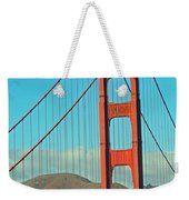 A Golden Gate View Weekender Tote Bag