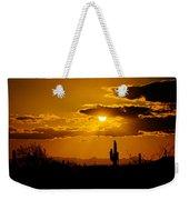A Golden Southwest Sunset  Weekender Tote Bag