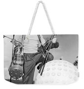 A Golfer With A Giant Ball Weekender Tote Bag