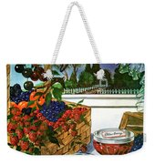 A Gourmet Cover Of A Fruit Basket Weekender Tote Bag
