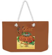 A Gourmet Cover Of Chicken Weekender Tote Bag by Henry Stahlhut