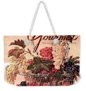 A Gourmet Cover Of Grapes Weekender Tote Bag