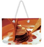 A Gourmet Cover Of Moch Mousse Weekender Tote Bag