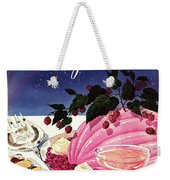 A Gourmet Cover Of Mousse Weekender Tote Bag