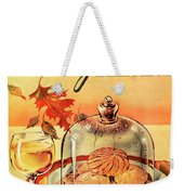 A Gourmet Cover Of Mushrooms On Toast Weekender Tote Bag
