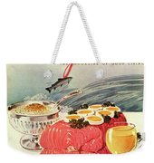A Gourmet Cover Of Poached Salmon Weekender Tote Bag