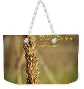A Grain Of Wheat Weekender Tote Bag