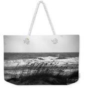 A Gray November Day At The Beach Weekender Tote Bag by Susanne Van Hulst