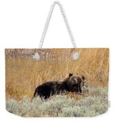 A Grizzily On A Buffalo Carcass Weekender Tote Bag