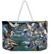 A Group Of Pelicans Weekender Tote Bag