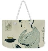 A Half Length Portrait Of Naniwaya Okita Weekender Tote Bag
