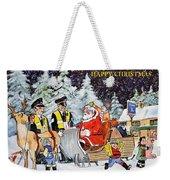 A Happy Christmas Weekender Tote Bag