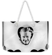 A Happy Five Of Hearts Weekender Tote Bag by Underwood Archives