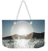 A Happy Young Women Canon Balls Weekender Tote Bag