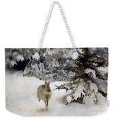 A Hare In The Snow Weekender Tote Bag