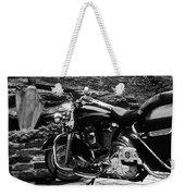 A Harley Davidson And The Virgin Mary Weekender Tote Bag
