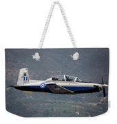 A Hellenic Air Force T-6 Trainer Flying Weekender Tote Bag