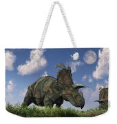 A Herd Of Albertaceratops Grazing Weekender Tote Bag
