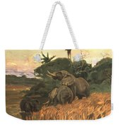 A Herd Of Elephants By Moonlight Weekender Tote Bag
